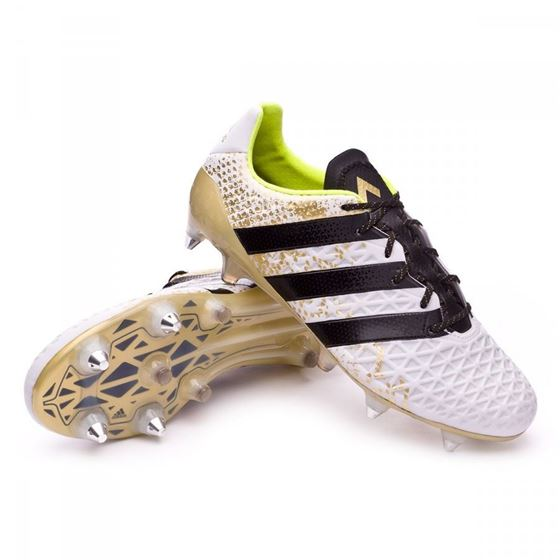 premium selection bd8c7 35987 Adidas Ace 16.1 Soft Ground White/ black/Gold