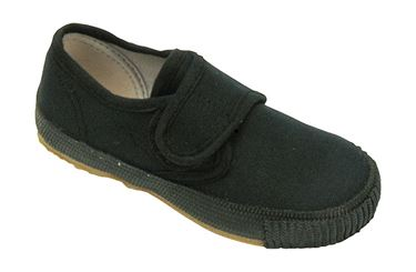 Picture of Pucklechurch Black Plimsolls
