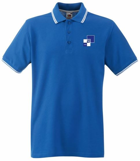 Picture of Bristol Rovers FC '1990' Royal Tipped Polo