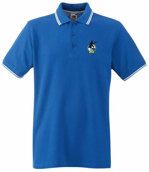 Picture of Bristol Rovers FC 'Crest' Royal Tipped Polo
