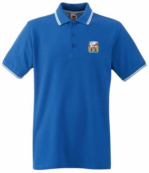 Picture of Bristol Rovers FC 'Coat Of Arms' Royal Tipped Polo
