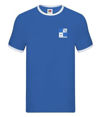 Picture of Bristol Rovers FC '1980' Royal Tipped Tee