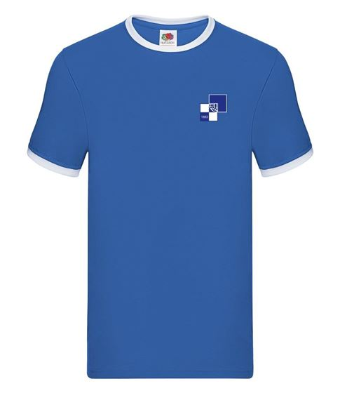 Picture of Bristol Rovers FC '1990' Royal Tipped Tee