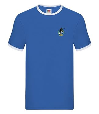 Picture of Bristol Rovers FC 'Crest' Royal Tipped Tee