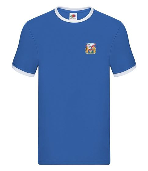 Picture of Bristol Rovers FC 'Coat Of Arms' Royal Tipped Tee