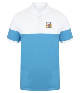 Picture of Bristol Rovers FC 'Coat Of Arms' Marine/White Polo