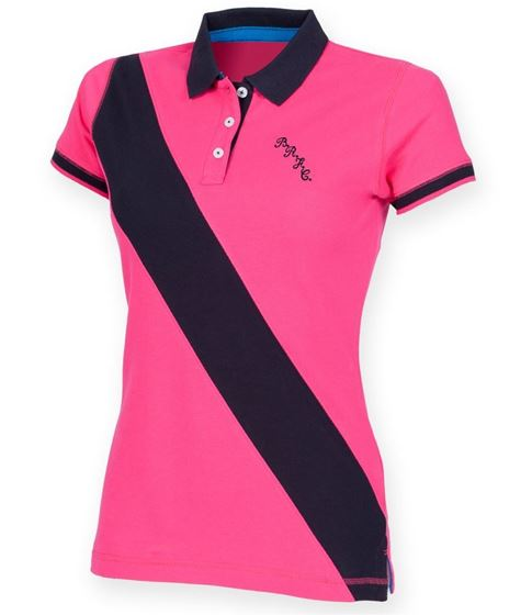 Picture of Bristol Rovers FC 'BRFC' Ladies Stripe Polo