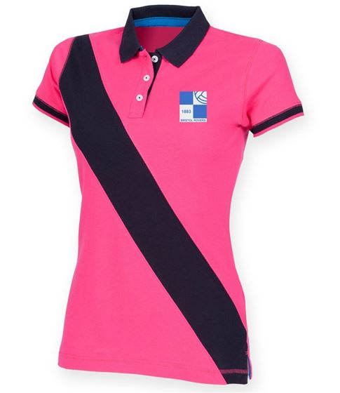 Picture of Bristol Rovers FC '1980' Ladies Stripe Polo