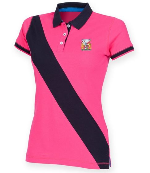 Picture of Bristol Rovers FC 'Coat Of Arms' Ladies Stripe Polo
