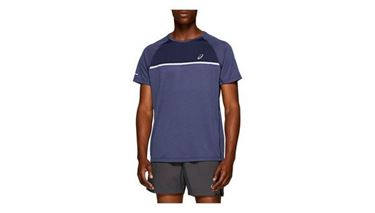 Picture of Asics Mens Running SS Top - Peacoat Heather
