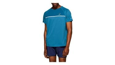 Picture of Asics Mens Running SS Top - Deep Sapphire Heather
