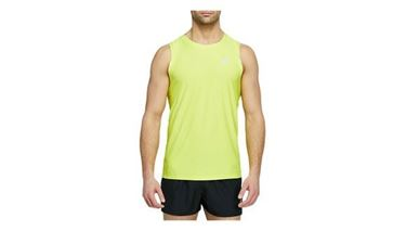 Picture of Asics Mens Running Sport Singlet - Sour Yuzu