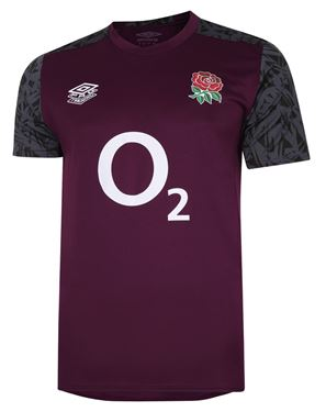 Picture of ENGLAND RUGBY GYM TOP - Pickled Beet / Black