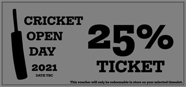 Picture of Cricket Open Day 2021 - 25% Discount Ticket