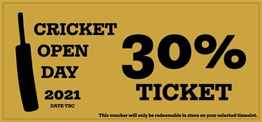 Picture of Cricket Open Day 2021 - 30% Golden Discount Ticket