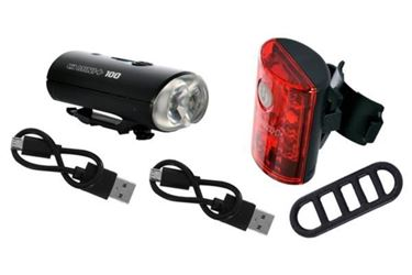 Picture of Oxford Ultratorch Mini+ USB Front & Rear Light Set