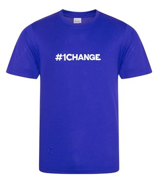 Picture of BSLM - #1CHANGE? - Men's Royal Tee