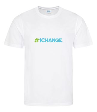 Picture of BSLM - #1CHANGE? - Men's White Tee