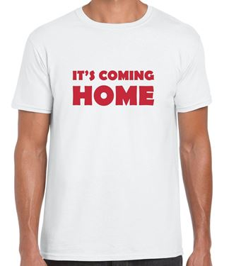 Picture of IT'S COMING HOME - ENGLAND WHITE T-SHIRT