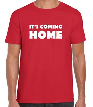 Picture of IT'S COMING HOME - ENGLAND RED T-SHIRT